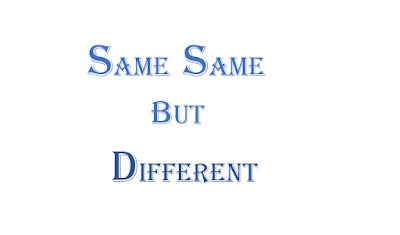 Same But Different